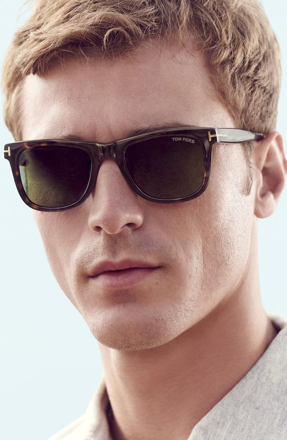 Tom Ford FT0337 Hugh Rectangular Sunglasses