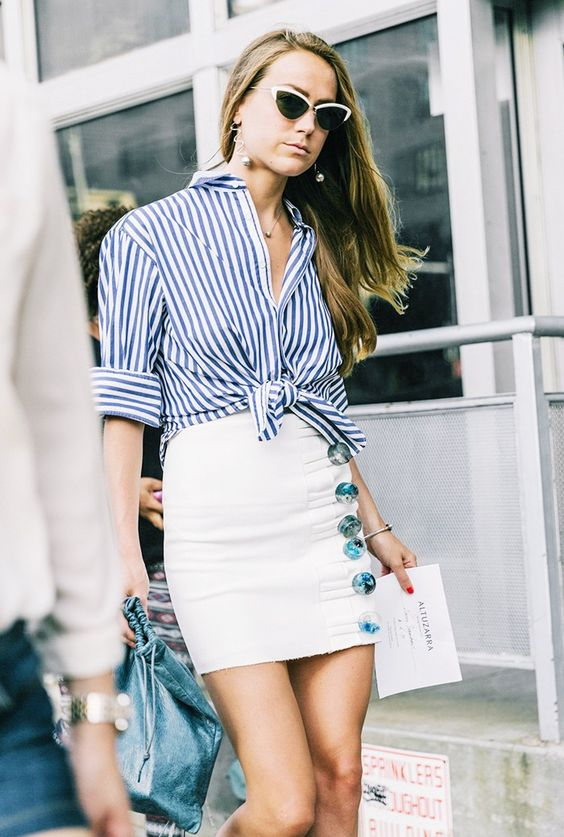 classic striped shirt for womens. Casual Womens Fashion and Womens Cool Trending Clothes, Dresses. #womensfashion #womensdress #summeroutfit #casualoutfit