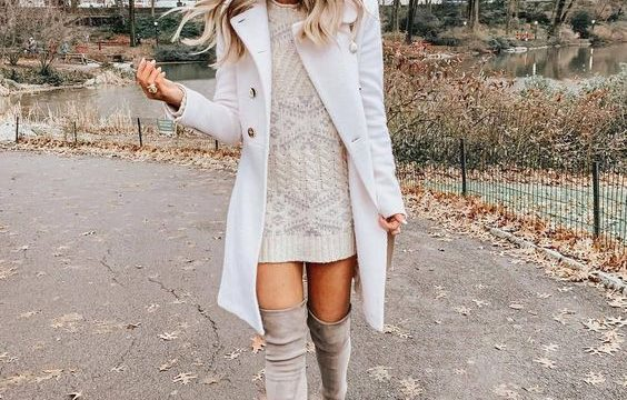 39 Winter Sweater and Dress Outfit | Crazy Outfits